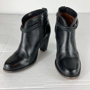 Frye Jenny Seam Short Boots Ankle Booties Side Zip